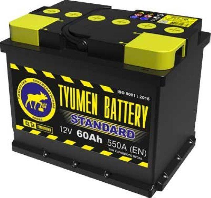 Аккумулятор 6СТ 60 TYUMEN BATTERY STANDARD L 550 A (EN) 242х175х190 конус обратная