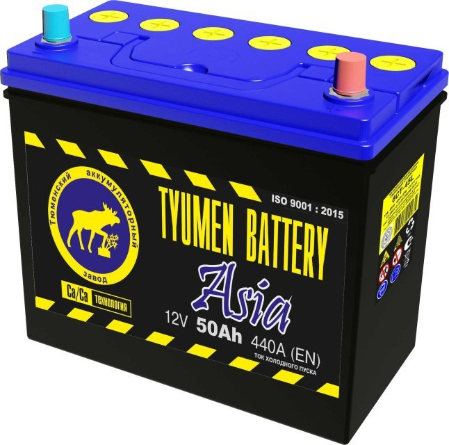 """Аккумулятор Аккумулятор 6ст-50 TYUMEN BATTERY """"ASIA"""" L 440А(EN) 236х128х223 50 TYUMEN BATTERY ASIA L"""