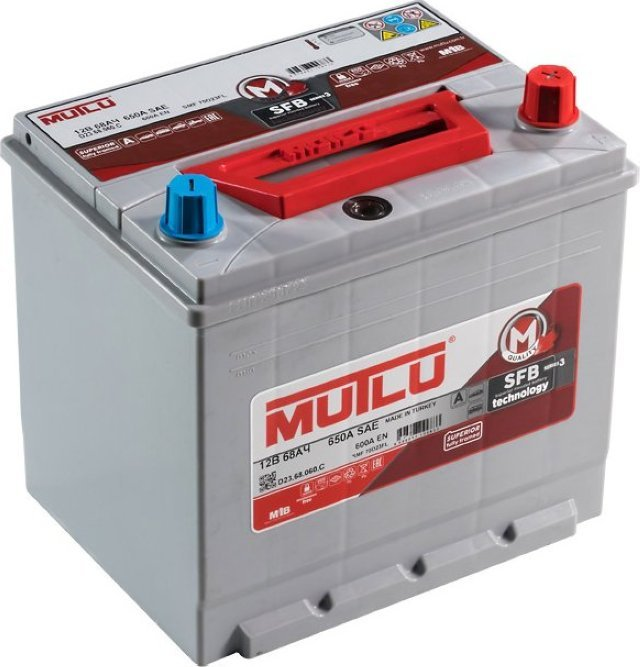 Аккумулятор 6СТ 68 MUTLU SFB 3 D23.68.060.C 600 A (EN) 232х173х225 конус обратная