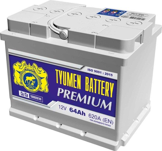 Аккумулятор 6СТ 64 TYUMEN BATTERY PREMIUM L 620 A (EN) 242х175х190 конус обратная