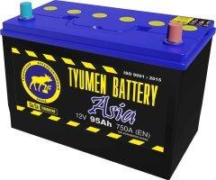 Аккумулятор 6СТ 95 TYUMEN BATTERY ASIA L 750 A (EN) 303х172х222 конус прямая