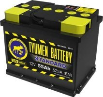 Аккумулятор 6СТ 55 TYUMEN BATTERY STANDARD L 525 A (EN) 242х175х190 конус обратная