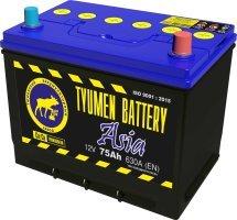 Аккумулятор 6СТ 75 TYUMEN BATTERY ASIA L 630 A (EN) 266х173х220 конус прямая
