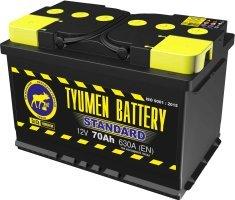 Аккумулятор 6СТ 70 TYUMEN BATTERY STANDARD L 630 A (EN) 278х175х190 конус обратная