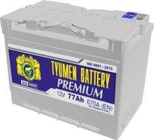 Аккумулятор 6СТ 77 TYUMEN BATTERY PREMIUM LA 670 A (EN) 278х175х190 конус обратная