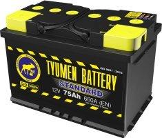 Аккумулятор 6СТ 75 TYUMEN BATTERY STANDARD L 660 A (EN) 278х175х190 конус прямая
