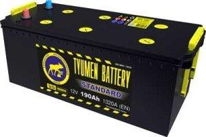 Аккумулятор 6СТ 190 TYUMEN BATTERY STANDARD L 1320 A (EN) 518х228х238 конус прямая