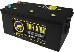 Аккумулятор 6СТ 225 TYUMEN BATTERY STANDARD L 1500 A (EN) 518х278х235 конус обратная