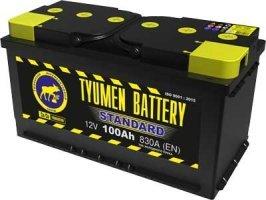 Аккумулятор 6СТ 100 TYUMEN BATTERY STANDARD L 830 A (EN) 352х175х192 конус прямая